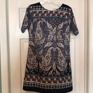 NWT Abercrombie & Fitch paisley shift dress size M